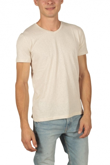 French Kick men's t-shirt Vee beige