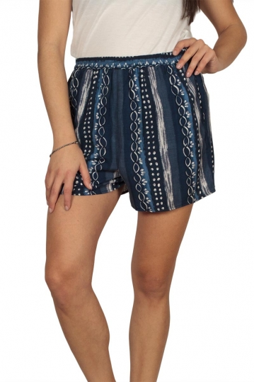 Women's printed shorts blue