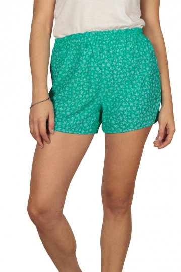 Women's shorts in green floral