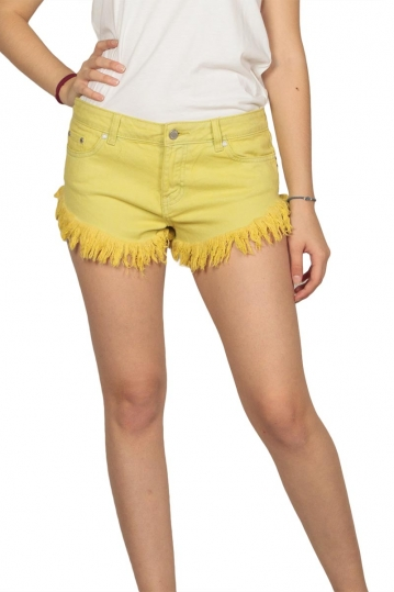 Insight women's frayed denim shorts lime
