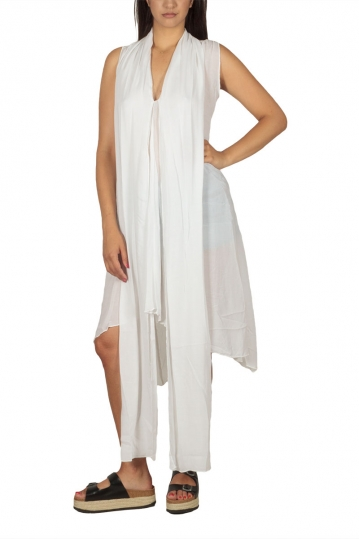Lotus Eaters Angola asymmetrical tunic white