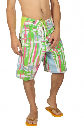 Reef men's printed board shorts lime