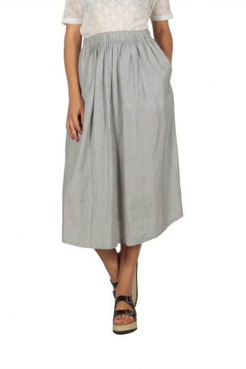 Soft Rebels Carrie striped midi skirt