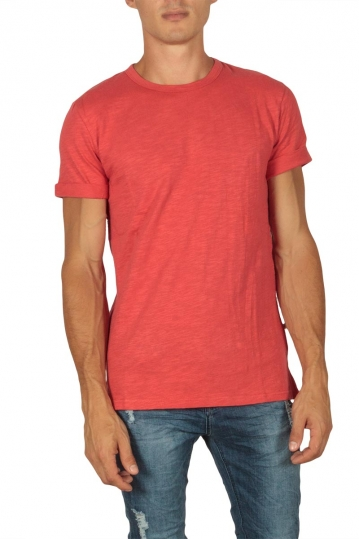 Minimum Delta men's slub t-shirt cranberry