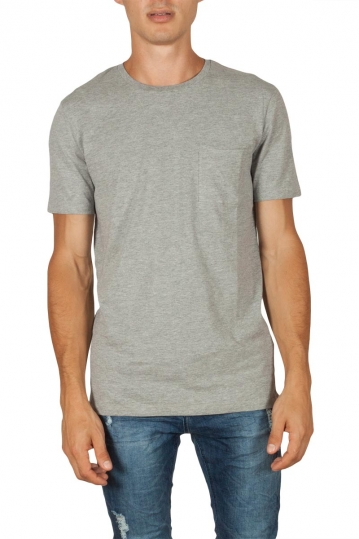 Minimum Nowa men's pocket t-shirt grey melange