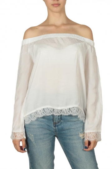 Minimum Carlina Bardot blouse white