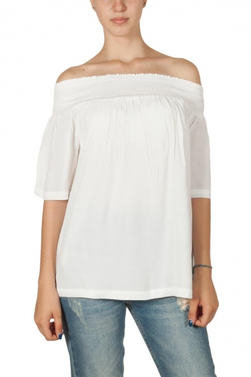 Minimum Elvine Bardot top white