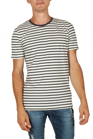Minimum Gil men's striped t-shirt dark navy