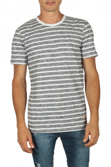 Minimum Johnston men's striped t-shirt white-navy