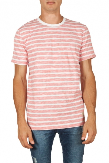 Minimum Johnston men's striped t-shirt white-cranberry
