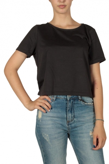Minimum Lovise crop t-shirt black