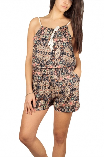 Vintage printed playsuit