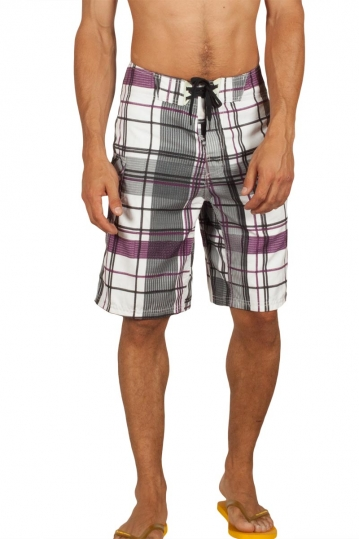 Reef Flatstich board shorts black & white check