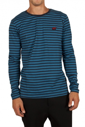 Anerkjendt Metri striped tee blue with applique