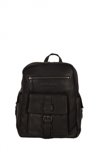 Hill Burry leather backpack black