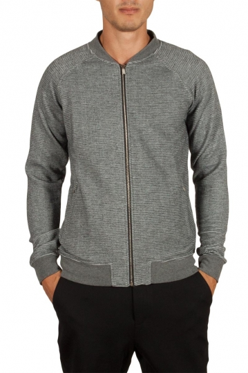 Anerkjendt Ilbert sweat jacket granit grey