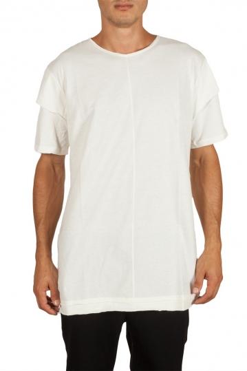 Oyet men's longline T-shirt ecru