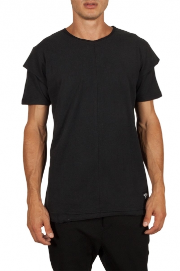 Oyet men's longline T-shirt black