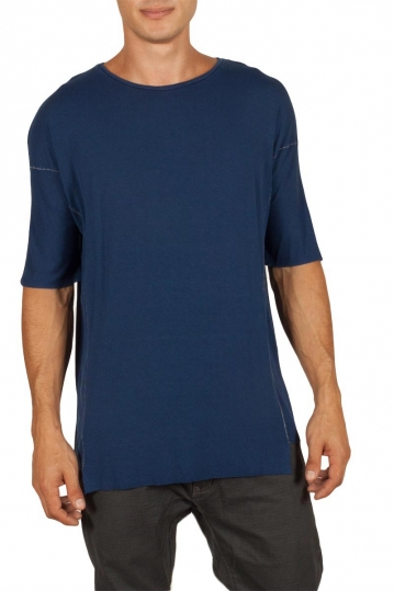 Men's longline t-shirt blue