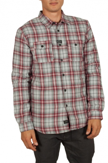 Globe Camden ΙΙ sherpa lined check shirt bone