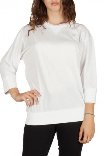 Women's 3/4 sleeve top white