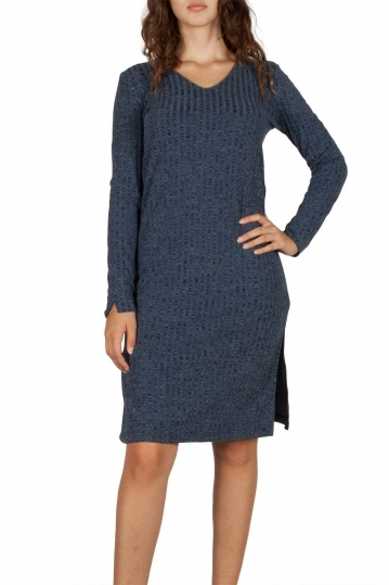 Soft Rebels Late dress blue melange