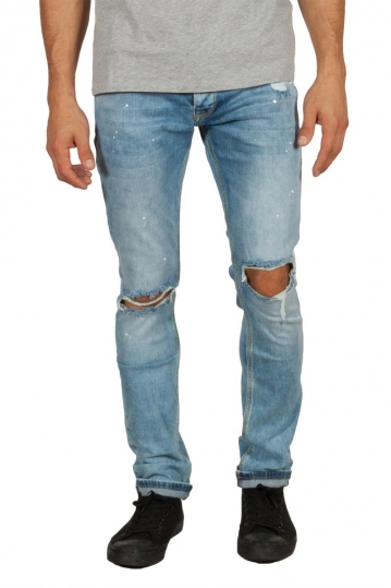 Men's ripped jeans light blue
