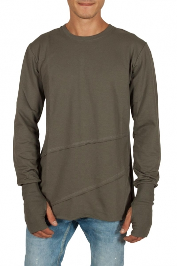 Humanism long sleeve tee khaki