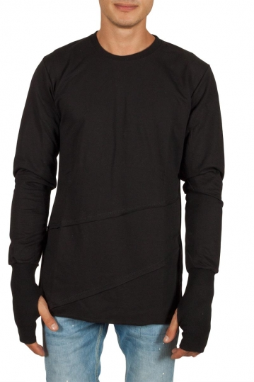 Humanism long sleeve tee black