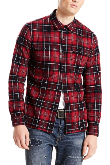 LEVI'S® Jackson worker shirt tulsi red dahlia plaid