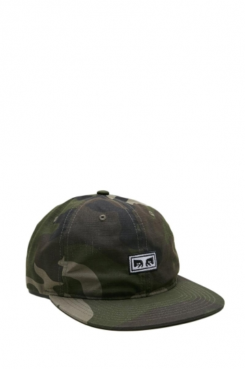 Obey Overthrow 6 panel hat camo