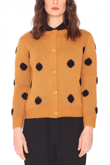 Pepaloves Dots cardigan bronze