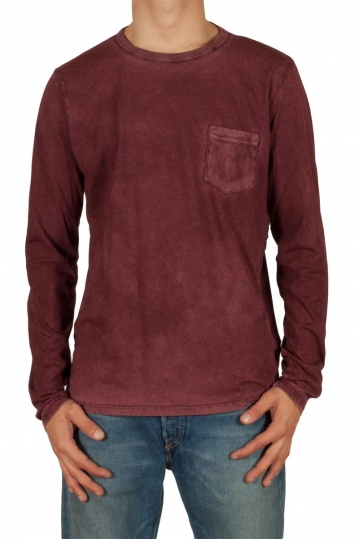 Replay tie-dyed men's tee burgundy