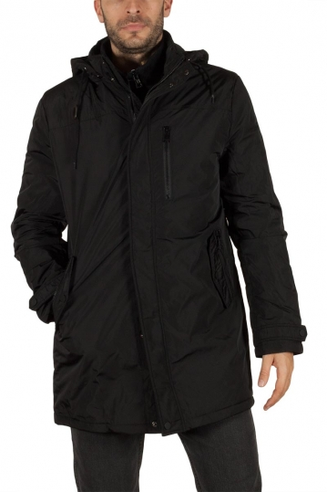Biston men's hooded parka black