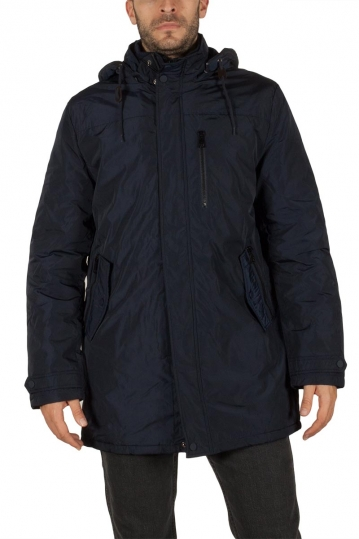 Men's hooded parka navy