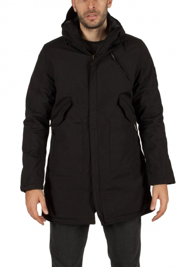 Splendid men's hooded parka black