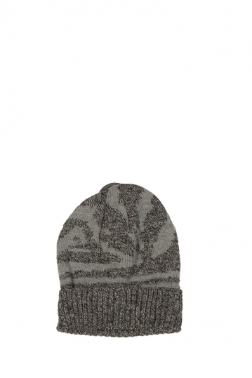 Turn up beanie light grey