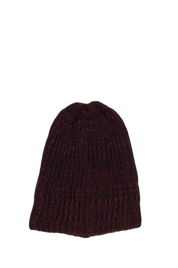 Fleece lined beanie bordeaux melange