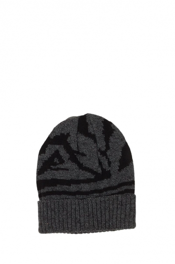 Turn up beanie black melange