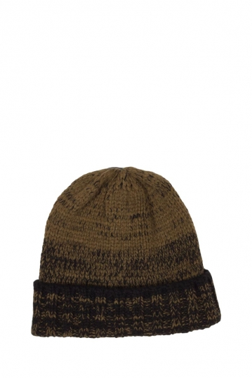 Turn up beanie brown-black melange