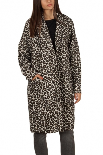 Soft Rebels Bess leopard coat