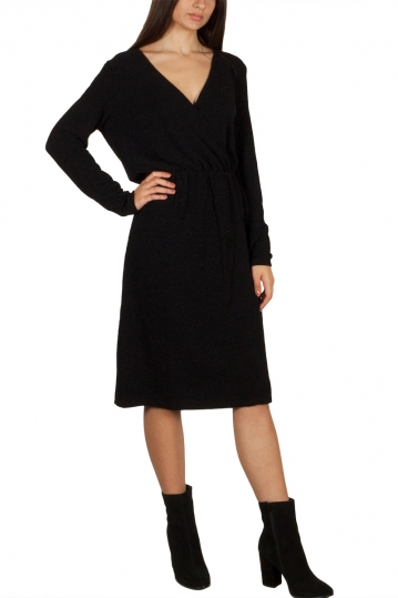 Soft Rebels Eris wrap dress black