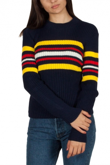 Daisy Street navy jumper with stripes