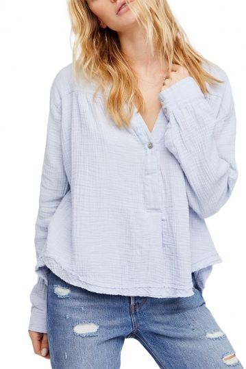 Free People Changing horizons pullover light blue