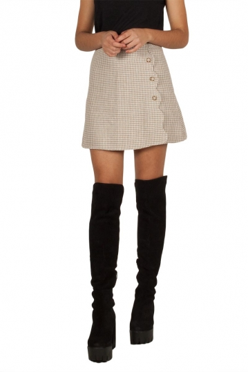 Migle + me houndstooth skirt sand