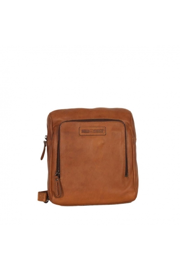 Hill Burry men's leather small backpack brown