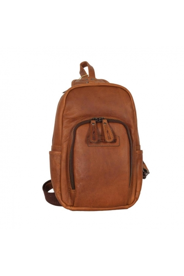 Hill Burry cross body leather bag with exterior pocket