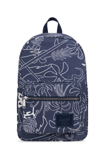 Herschel Supply Co. Pop Quiz Cotton Canvas backpack abstract island