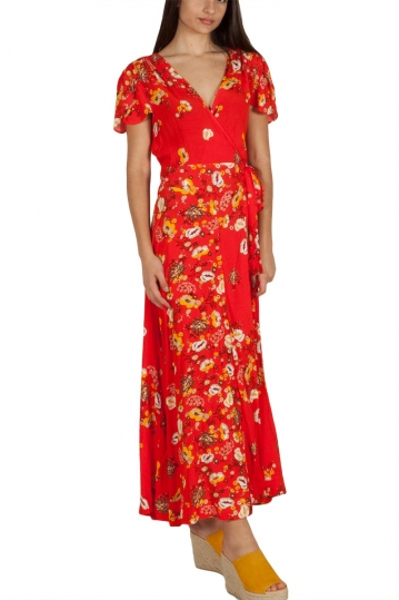 Free People Jess floral printed wrap dress