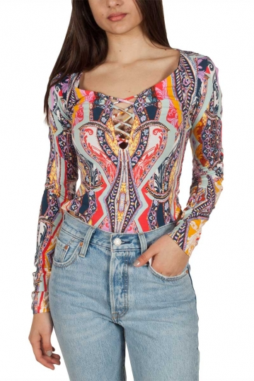 Free People Pick a Place bodysuit with vintage print